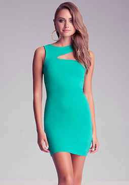 Top Slash Cutout Dress at bebe