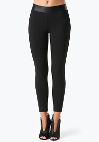 bebe Basic Ankle Zip Leggings