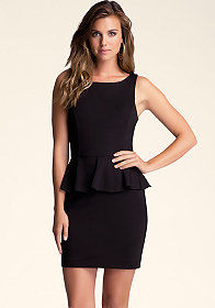 bebe Kristen Peplum Dress