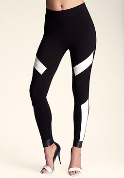 bebe Colorblock Techie Legging