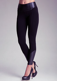 bebe Contrast Ankle Leggings