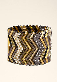 bebe Chevron Stretch Bracelet