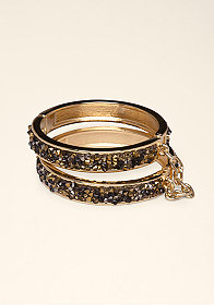 Multi Bangle Stone Bracelet at bebe