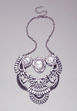 Stone Layered Necklace at bebe