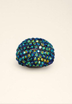 bebe Rhinestone Dome Ring