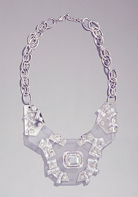 bebe Lucite Statement Necklace