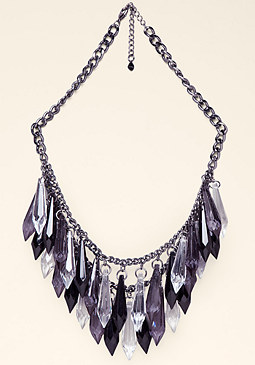 bebe Ombre Lucite Spike Necklace