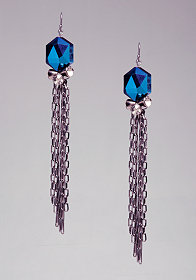 Bead & Chain Linear Earrings at bebe