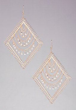 bebe Draped Diamond Earrings
