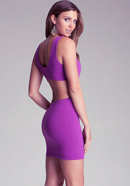 bebe Open Back Dress
