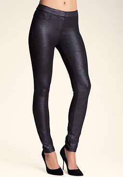 bebe Foiled Pointed Skinny Pants