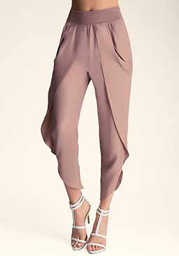 bebe Darling Draped Harem Pants