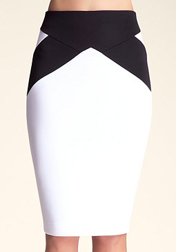 bebe Seam Body Midi Skirt