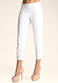 bebe Ruched Detail Crop Pants