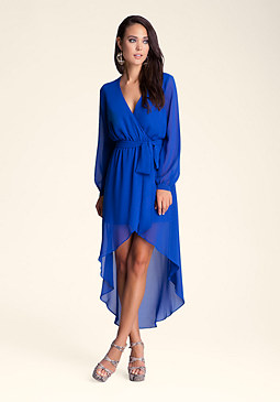 bebe Maddey High Low Slit Dress