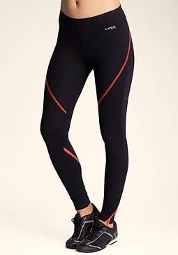 bebe Curved Zip Leggings