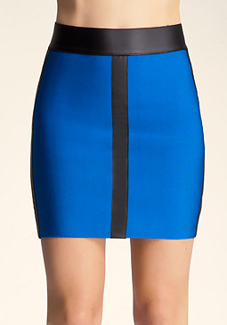 bebe Colorblock Skirt