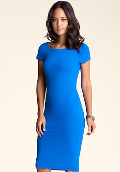 bebe Solid Bodycon Midi Dress