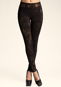 bebe Metallic Wash Legging