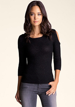 bebe Slash Back Sweater Top