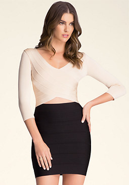 Crossover Bodycon Sweater at bebe