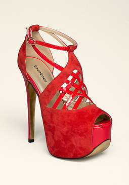 Cecily Caged Club Shoes at bebe
