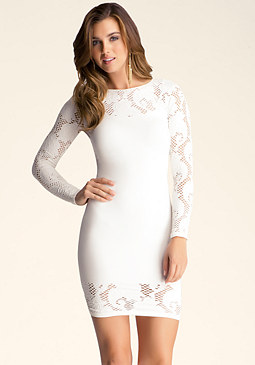 bebe Cicilia Lace Dress