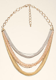 bebe Short Mixed Metal Necklace