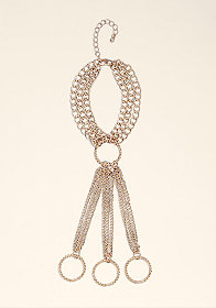 bebe Finger Chain Hand Jewelry