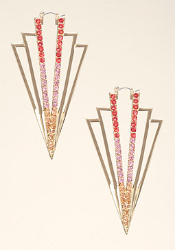 bebe Cutout Triangular Earrings