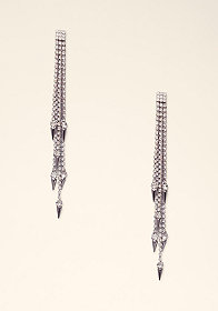bebe Sparkle Spike Drop Earrings