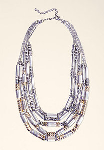 LUCITE STATEMENT NECKLACE at bebe