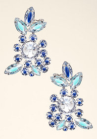 Floral Crystal Ear Cuffs at bebe