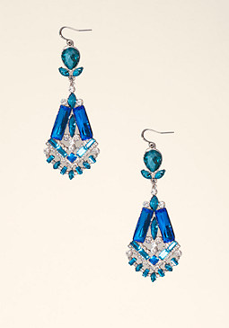 bebe Art Deco Drop Earring ��