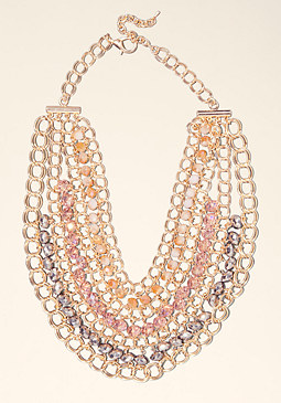 bebe Chain Bib Necklace