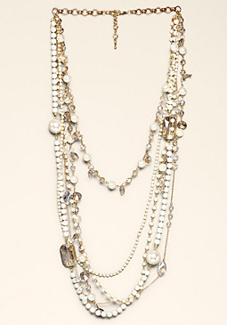 bebe Crystal Clusters Necklace