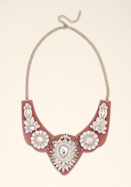 bebe Floral Lucite Necklace