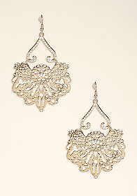 bebe Filigree Statement Earring
