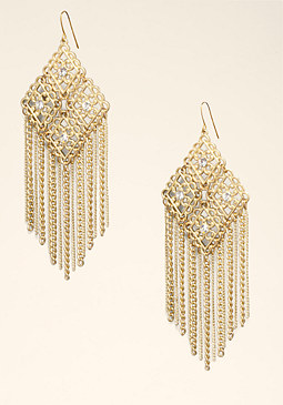bebe Filigree & Fringe Earrings