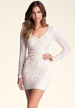 bebe Brooklyn Embellished Dress