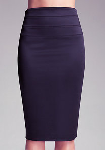 High Waist Midi Skirt at bebe
