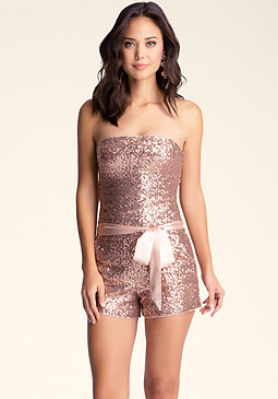 Sequin Romper at bebe
