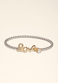 bebe Twisted Open Bangle
