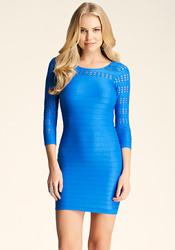 bebe Peek-A-Boo Cutout Dress