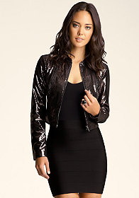bebe Foiled All Over Again Jacket