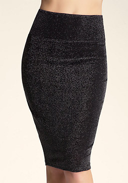 Sparkle Midi Skirt at bebe