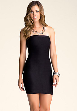 bebe Tube Back Cutout Dress