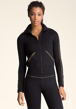 bebe Rhinestone Cropped Jacket