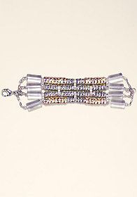 bebe Lucite and Bead Bracelet