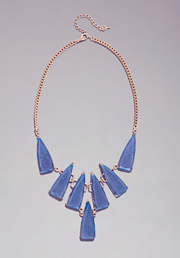 bebe Multi Stone Necklace